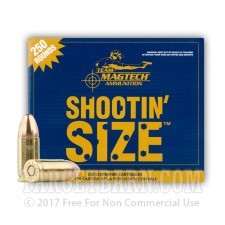 Magtech 9mm Luger Ammunition - 250 Rounds of 115 Grain FMJ