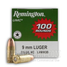 Remington UMC 9mm Luger 115 Grain MC - 600 Rounds