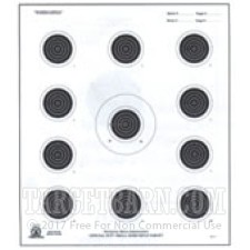 A-17 Paper Targets - 50 Ft Smallbore Rifle - 100 Count