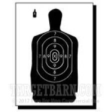 B-29 Paper Targets - 50 Ft Police Silhouette - 100 Count