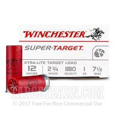"Winchester Super Target 12 Gauge Ammunition - 25 Rounds of 2-3/4"" 1 oz. #71/2 Shot"