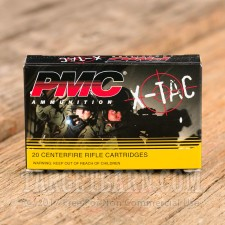 PMC 5.56 NATO Ammunition - 20 Rounds of 55 Grain FMJ