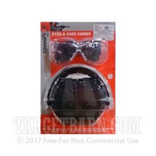 Champion - Eyes & Ears Combo - Passive Dark Green - Ballistic Safety Glasses and Earmuffs - One Set