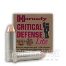 Hornady Critical Defense Lite 38 Special Ammunition - 250 Rounds of 90 Grain FTX