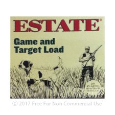 "Estate Game and Target Load 12 Gauge Ammunition - 25 Rounds of 2-3/4"" 1 oz. #8 Shot"