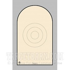 NRA D-1-T Paper Targets - GSSF Heavy Paper - 100 Count