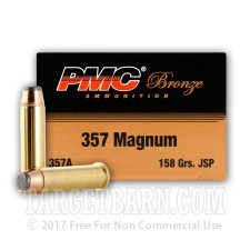 PMC Bronze 357 Magnum Ammunition - 1000 Rounds of 158 Grain JSP
