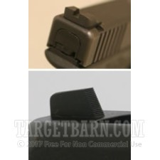 Sevigny Carry Set - Plain Rear with Plain Front - Glock
