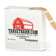 """Tan Target Pasters - 1000 Count - 7/8"""" Boxed Square Adhesive Pasters"""