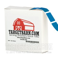 """Blue Target Pasters - 1000 Count - 7/8"""" Boxed Square Adhesive Pasters"""