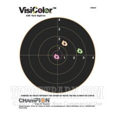 VisiColor 8 Inch Bullseye Target - Multi-Color Reactive - Champion - 10 Count