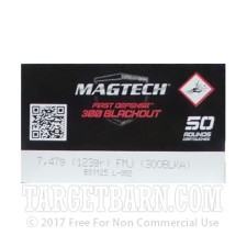 Magtech First Defense 300 AAC Blackout Ammunition - 1000 Rounds of 123 Grain FMJ