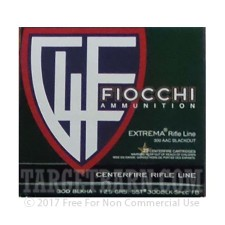 Fiocchi Extrema 300 AAC Blackout Ammunition - 500 Rounds of 125 Grain SST
