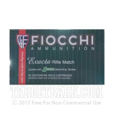 Fiocchi Exacta 308 Winchester Ammunition - 20 Rounds of 180 Grain Matchking HP-BT