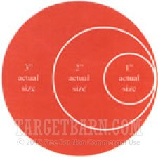"""Red Target Pasters - 100 Count - 2"""" Boxed Round Adhesive Pasters"""