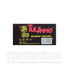 Tula 7.62x39 Ammunition - 100 Rounds of 124 Grain FMJ