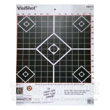 VisiShot 12 Square Inch Diamond Pattern Sight-In Target - Orange Reactive - Champion - 10 Count