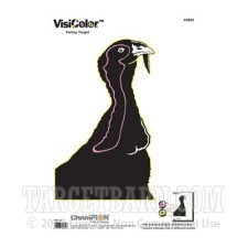 VisiColor Practice Turkey Target - Multi-Color Reactive Anatomy - Champion - 10 Count