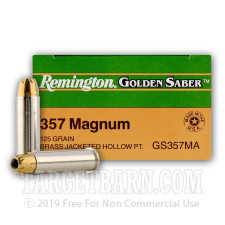 Remington Golden Saber Ammunition - 500 Rounds of 125 Grain JHP