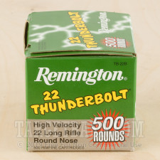 Remington 22 Thunderbolt 22 LR Ammunition - 500 Rounds of 40 Grain LRN