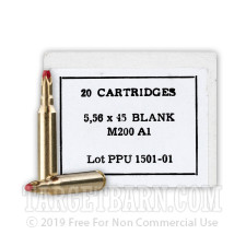 Prvi Partizan 5.56 NATO Ammunition - 20 Rounds of Blanks
