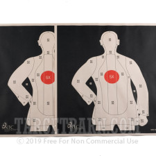 SPEC B-21X RC Paper Targets - 25 Yd Police Silhouette (Reversed) - Red - 100 Count