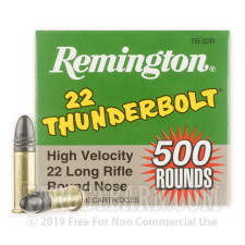 Remington 22 Thunderbolt 22 LR Ammunition - 5000 Rounds of 40 Grain LRN