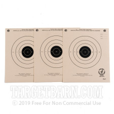 TQ-7 Paper Targets - 25 Ft Timed & Rapid Fire Pistol - 100 Count