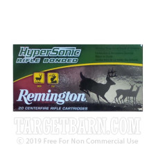 Remington HyperSonic Rifle Bonded 308 Winchester Ammunition - 20 Rounds of 150 Grain PSP