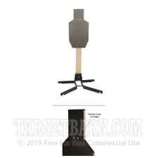 Steel Target With Heavy Duty Stand - IPSC Torso - Handgun & Rifle