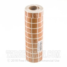"""Tan Target Pasters - 40000 Count - 7/8"""" Unboxed Square Adhesive Pasters"""