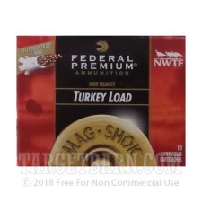 "Federal Mag-Shok Turkey Load 12 Gauge Ammunition - 10 Rounds of 3"" 2 oz. #4 Shot"