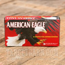 Federal American Eagle 40 S&W Ammunition - 50 Rounds of 165 Grain FMJ