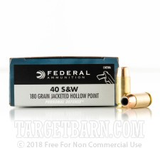 Federal Personal Defense 40 S&W Ammunition - 20 Rounds of 180 Grain JHP