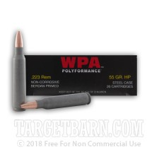 Wolf WPA Polyformance 223 Remington Ammunition - 500 Rounds 55 Grain HP