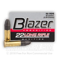 CCI Blazer 22 LR Ammunition - 500 Rounds of 40 Grain LRN