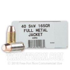 Ultramax Remanufactured 40 S&W Ammunition - 50 Rounds of 165 Grain FMJ
