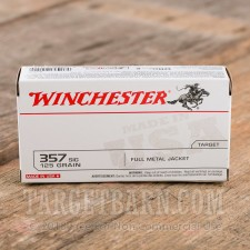 Winchester 357 SIG Ammunition - 500 Rounds of 125 Grain FMJ