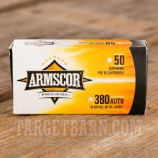 Armscor 380 ACP Ammunition - 50 Rounds of 95 Grain FMJ