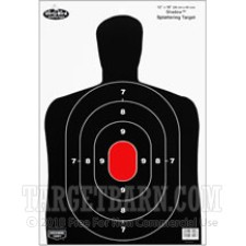 Birchwood Casey Splatter Targets - 100 Dirty Bird Targets - B-27 Silhouette