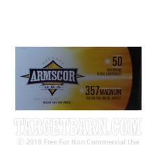 Armscor USA 357 Magnum Ammunition - 1000 Rounds of 158 Grain FMJ