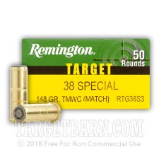 Remington Target 38 Special Ammunition - 50 Rounds of 148 Grain TMWC