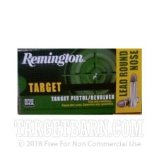 Remington Target 38 Special Ammunition - 50 Rounds of 158 Grain LRN