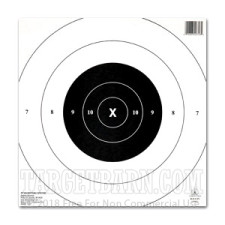 NRA B-8C 25 Yard Timed & Rapid Fire Target - Official Bullseye Competition - Champion - 12 Count
