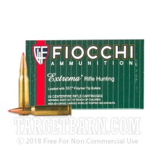 Fiocchi Extrema 308 Winchester Ammunition - 200 Rounds of 150 Grain SST Polymer Tip