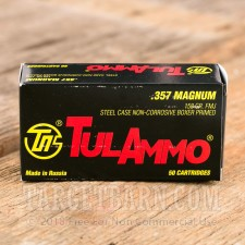 Tula 357 Magnum Ammunition - 1000 Rounds of 158 Grain FMJ