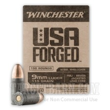 Winchester USA Forged 9mm Luger Ammunition - 750 Rounds of 115 Grain FMJ