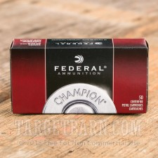 Federal Champion 9mm Luger Ammunition - 50 Rounds of 115 Grain FMJ