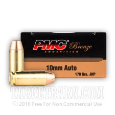 PMC Bronze 10mm Auto Ammunition - 500 Rounds of 170 Grain JHP