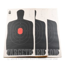 "B-27 (24"") RC Paper Targets - 50 Yd Police Silhouette - Red - 100 Count"